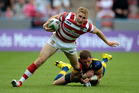 Wigan fullback Sam Tomkins (left) is being sought by the Warriors, giving fullback Kevin Locke something to think about. Photo / Getty Images
