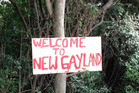 Saw this sign just a couple of hundred metres from Auckland Airport. It was by the bushes along George Bolt Memorial Drive.  Photo / Supplied