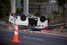 The scene of the fatal crash. Photo / Greg Bowker