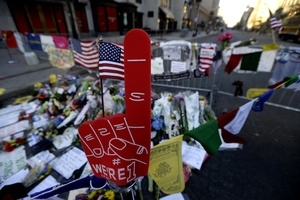 Yet another memorial to mass murder, this time in Boston. Photo / AP