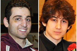 Tamerlan (left) and Dzhokhar Tsarnaev. Chechens in the Caucasus Emirate have denied any involvement in the Boston bombings.  Photo / AP