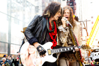 Aerosmith, featuring Steven Tyler and Joe Perry, play live in Dunedin tomorrow. Photo / AP
