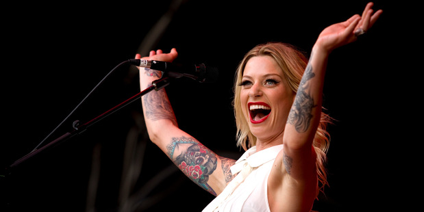 """Gin Wigmore is helping drive a trend for """"sleeve"""" tattoos. Photo / NZ Herald"""