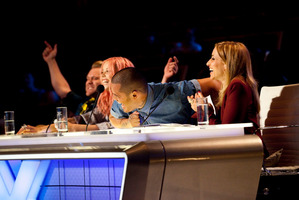 X Factor NZ judges Daniel Bedingfield, Ruby Frost, Stan Walker and Mel Blatt. Photo / Supplied