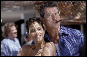 Halle Berry and Pierce Brosnan in James Bond film, Die Another Day. Do you think smoking in movies is unnecessary?Photo / Supplied