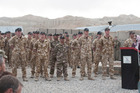 Official closing ceremony of Kiwi Base in Bamiyan, Afghanistan. Photo / NZ Defence Force