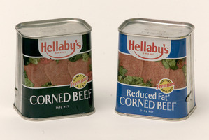 Cans of corned beef. Photo / Brett Phibbs