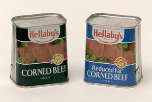 Cans of corned beef. Photo / Brett Phibbs