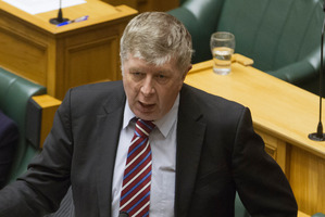 National Party MP Maurice Williamson during the final reading of the Marriage Amendment Bill. Photo / Mark Mitchell