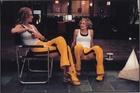 Uma Thurman and Zoe Bell on the set of Kill Bill. Photo / Supplied