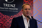 Prime Minister John Key speaking at the Trenz conference. Photo / NZH