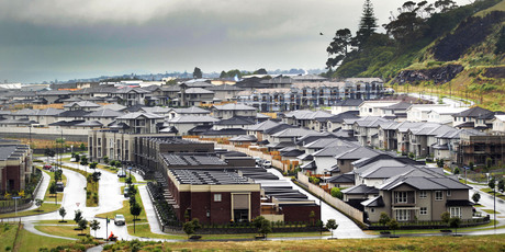 The $2 billion Mt Wellington Stonefields development of 2600 homes and apartments is well advanced. Photo / APN