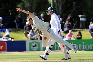 Doug Bracewell has been training hard and has tried out the English Duke balls ahead of the tour. Photo / Otago Daily Times