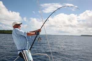 Geoff Thomas out fishing. File photo / Supplied