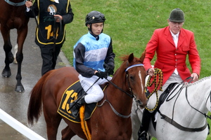 Masa Tanaka reflects on how easily his charge Survived has just won the Hawkes Bay Cup at Hastings on Saturday. Photo / APN