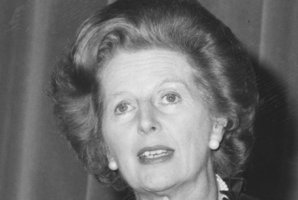 Margaret Thatcher when she was British Prime Minister. Photo / AP