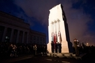 Thousands of Aucklanders gathered at the Auckland War Memorial Museum dawn service to mark Anzac Day. Photo / Greg Bowker
