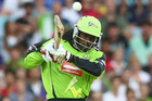 Chris Gayle in action for the Sydney Thunder in the Australian Big Bash. Photo / Getty Images