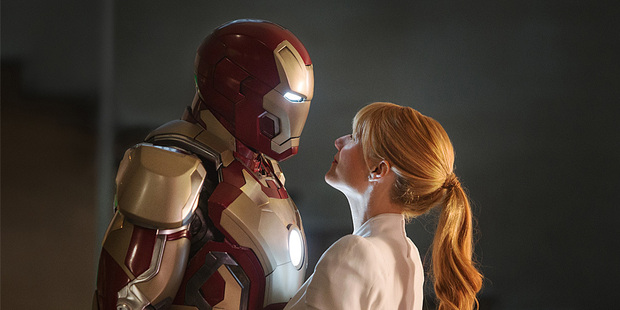 Loading Robert Downey Jr and Gwyneth Paltrow in Iron Man III. Photo/supplied