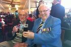 Old soldiers David Smith (left) and Alan Burgess at the Rangiora RSA sharing Second World War stories. Photo / Kurt Bayer