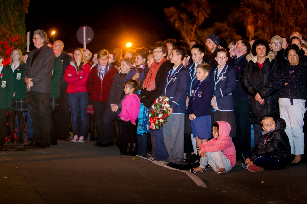 People gather to pay their respects in Hastings