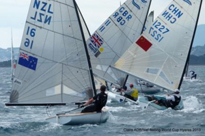 Andrew Murdoch sits in fifth in the Finn class. Photo / Claire ADB - Isaf Sailing World Cup Hyeres 2013
