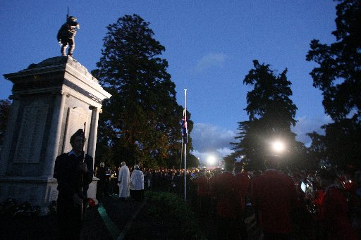 Anzac Day Dawn Ceremony of Remberance at the Cenotaph at Queen Elizabeth Park, Masterton.