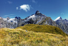 Mt Hart from Mackinnon Pass. Photo / Justine Tyerman