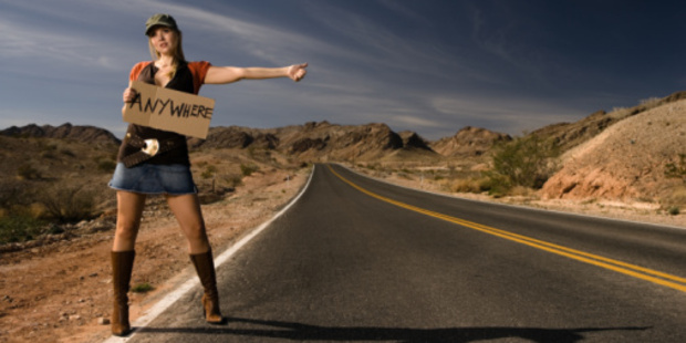 There's often romance and a sense of adventure associated with hitchhiking. Photo / Thinkstock