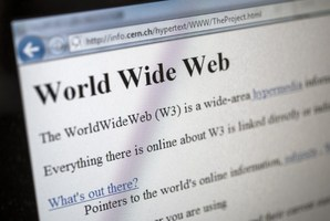 This picture taken on April 30, 2013 in Geneva shows a 1992 copy of the world's first web page. Photo / AFP