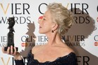 British actress Helen Mirren won the award for best actress during the Lawrence Olivier Awards. Photo / AFP
