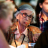 Holocaust survivor Ilse Feldheim, 85, of Great Neck, New York, and others, wait for the start of a ceremony on the 20th anniversary of the United States Holocaust Memorial Museum. Photo / AP