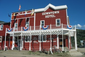 Dawson City hasn't changed its facade in over 100 years. Photo / Paul Rush
