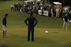 FootGolf claims to combine the social aspects of golf with the excitement and skill of soccer. Fancy a game? Video / Youtube: FootGolfUSA