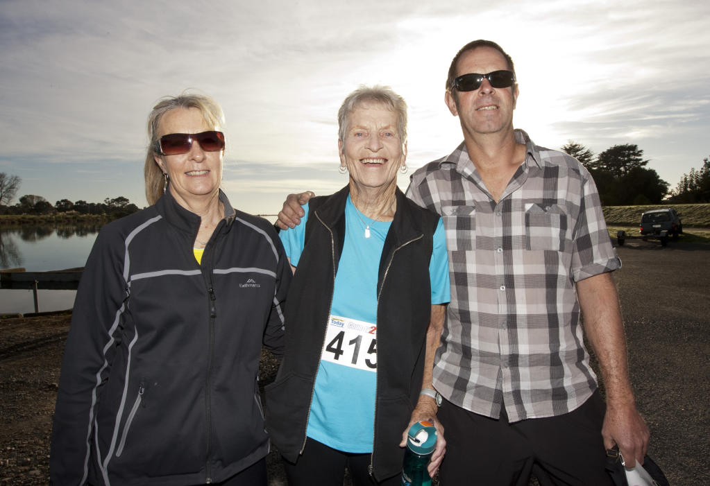 HBT131501-05.JPG Clare Vallis, Brenda Bailey, Ross Bailey from Hastings were seen at the Country to Coast start in Clive.Reporter: Amy ShanksPhotographer: Glenn TaylorSEEN IN THE BAY