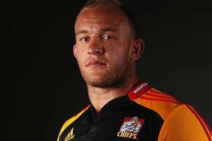 Waikato No8 Matt Vant Leven has been handed the challenge of marking in-form Rebels counterpart Scott Higginbotham for the Chiefs on Friday night. Photo / Getty Images.