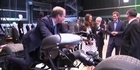  Raw: Prince William Hops on Batman Bike 