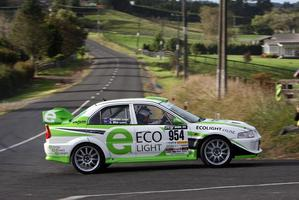 Last year's winner Glen Inkster in action at the Targa Rotorua event. Photo / Fast Company / GroundSky Photography