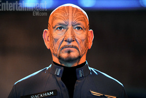 Ben Kingsley dons a full-facial moko to portray the half-Maori war hero Mazer Rackham in the sci-fi epic Ender's Game. Photo / Entertainment Weekly