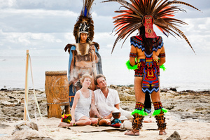 British couple Alex Pelling and Lisa Gant marry in Mexico. Photo / Dean Sanderson