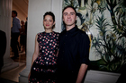 Marion Cotillard with Christian Dior creative director Raf Simons. Photograph / Supplied