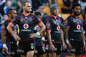 Warriors captain Simon Mannering has plenty to ponder as he seeks to lift his team up the NRL ladder. Photo / Getty Images