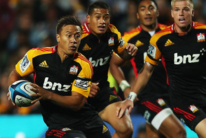 Tim Nanai-Williams' speed and agility have made him one of the Super season's stand-out backs. Photo / Getty Images