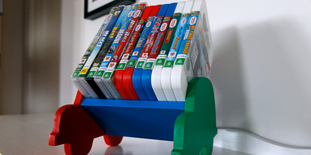 This easy-to-make DVD rack will help to keep home-entertainment clutter to a minimum. Photo / Michael Craig