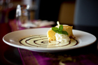The lemon and coconut cheesecake from Thai Chefs Restaurant in Parnell. Photo / Dean Purcell