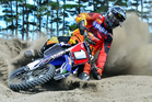Pahiatua's Paul Whibley (Yamaha) is battling furiously in the GNCC championships in the United States. Photo / Andy McGechan, BikesportNZ.com