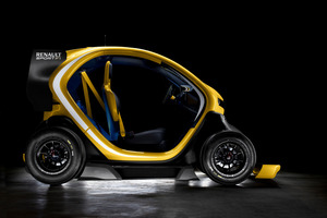 The Twizy Renault Sport F1 electric concept car has just been revealed in Spain. Photo / Supplied