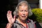Susan Sharpe outside the High Court at Rotorua after giving evidence against her ex-husband yesterday. Photo / Alan Gibson