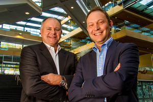 Telecom's Gen-i chief executive Tim Miles (left) and Revera chief executive Robin Cockayne. Photo / Supplied