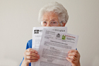 Betty was sent a scam letter from Spain. Photo / Andrew Warner